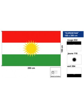 Flag of Kurdistan - 250x150cm